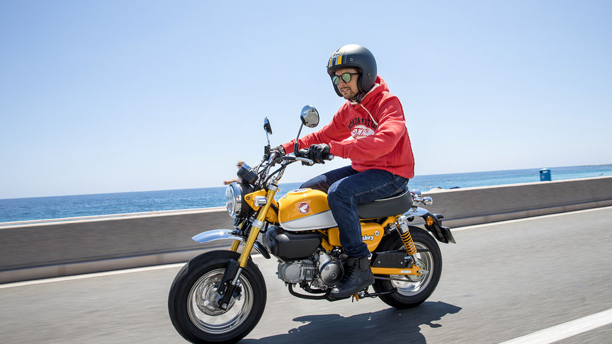 Monkey 125 Moto Honda Cheerful Character Easy To Ride